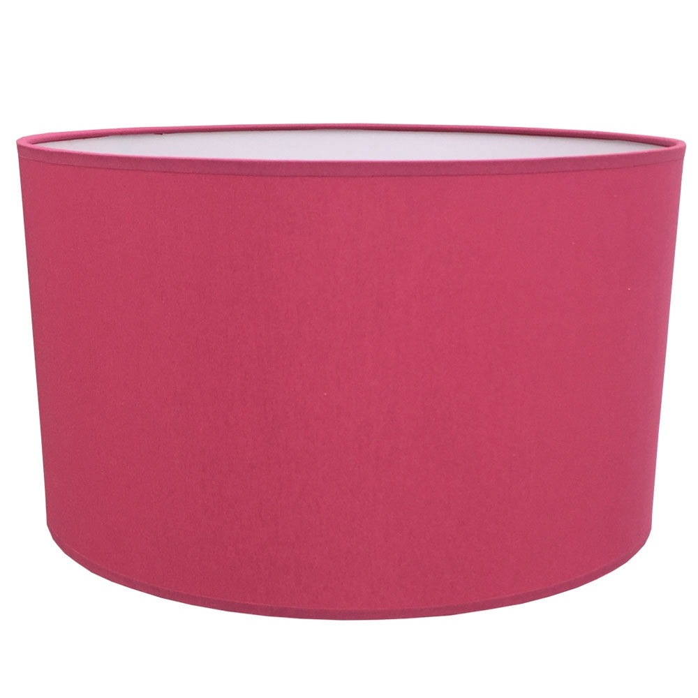 Drum Table Lampshade Raspberry